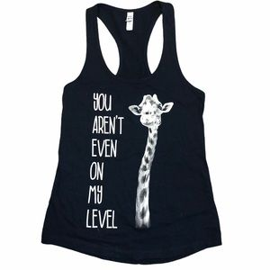 Next Level Navy Blue Razer Back Graphic Tank SZ S